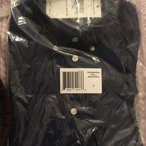 NEW! Ralph Lauren Polo Oxford Shirt DK BLUE Boys 7